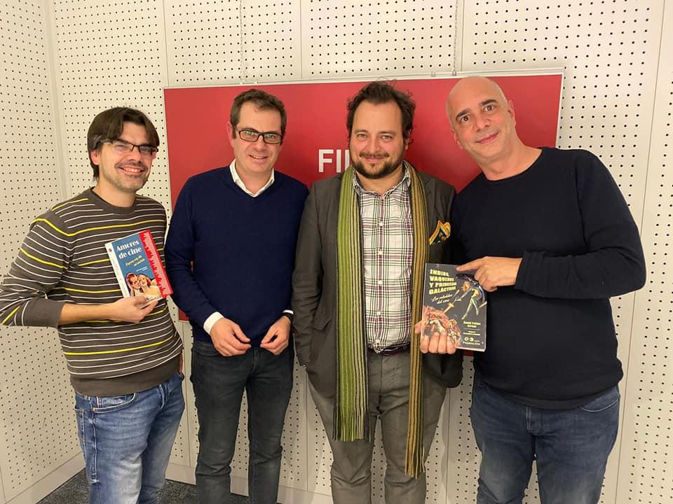 Fila EFE (especial carrera espacial y cine). De izq. a dcha: Dani Díaz, MrGorsky, David Felipe Arranz y Alfonso Caro.