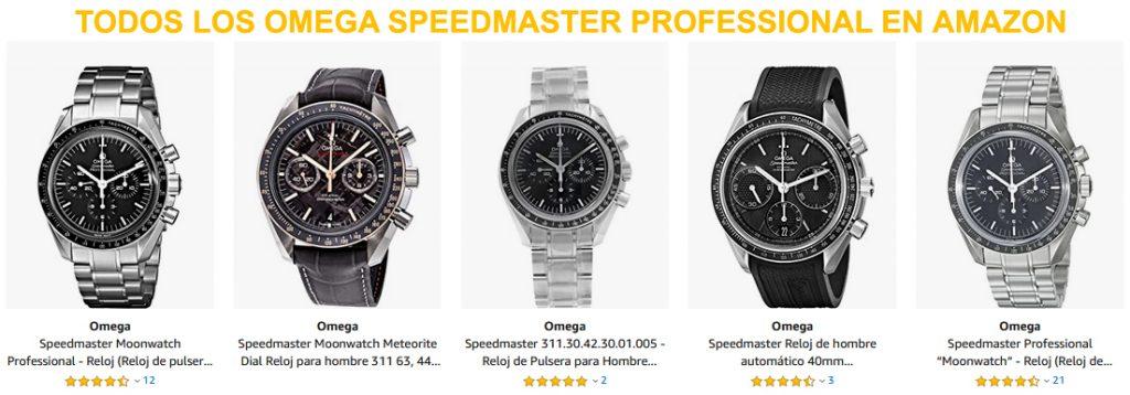 Todos los Omega Speedmaster Professional disponibles en Amazon