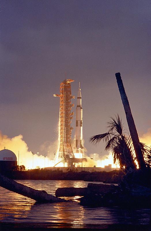 Lanzamiento del Apolo 14. Foto: 71PC-0152